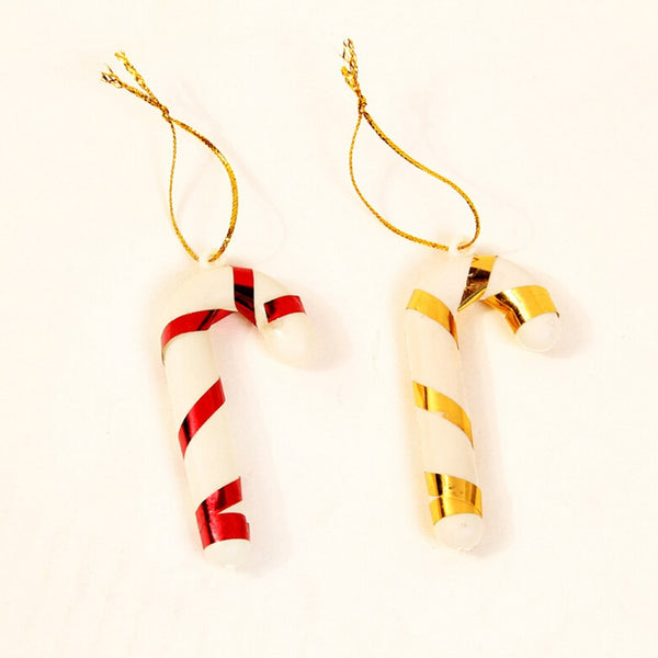 6 Pcs/lot Christmas Candy Cane Ornaments Festival Party Xmas Tree Hanging Decoration Christmas Decoration Supplies