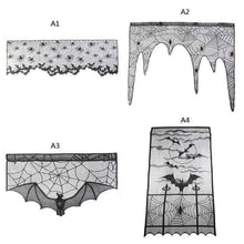 60*20inch 1 Pcs Halloween Decoration Lovely Lace Spiderweb Fireplace Mantle Scarf Cover Curtains Shades Festive Party Supplies