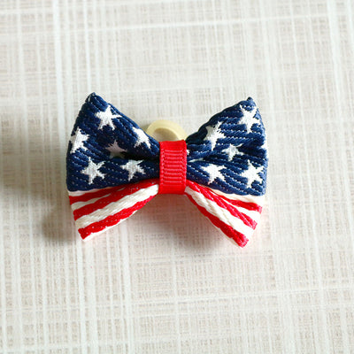 60pcs Pet Puppy Dog Cat Hair Bows 4th of July Bowknot Hair Bows Red White Blue Pet Hair Accessories Bows Pet Supplies