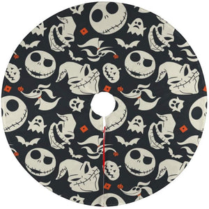 "Halloween Tree Skirt - 47"" - Haunted Houses"