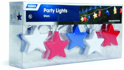 Patriotic Star Lights Red, White And Blue Star Lights 4th Memorial Day Patriotic Star Lights