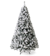 Mini Christmas Tree Artificial Flocking Snow Christmas Tree LED Multicolor Lights Holiday Decoration arbol de navidad