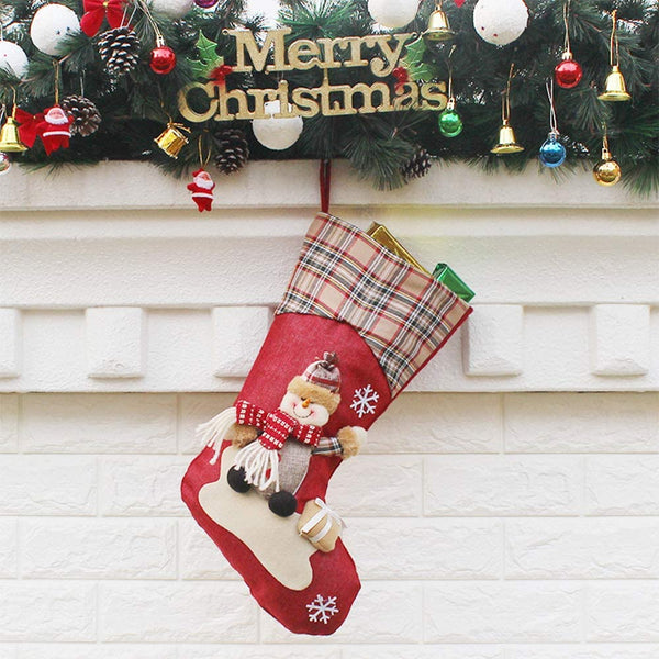 Candy Bag Christmas Gifts Tree Ornament Stocking Santa Claus Snowman Sock Decor New Year Christmas Decorations Ornaments For Hom