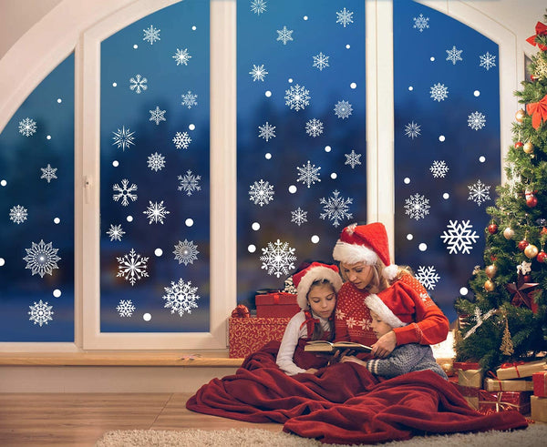 Christmas Decorative Decal Window Stickers Removable Xmas Glass Wall Stickers Merry Christmas Snowflake Sticker Home Decor