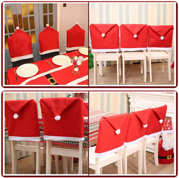 Christmas Decorations For Home Kitchen Table Embroidered Chair Covers Christmas Holiday Home Decoracion Navidad 2018 Xmas