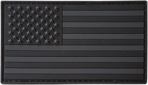 All Black ACU Dark Subdued American Flag Rifle Badge