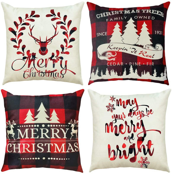 PATIMATE Red Santa Noel Pillowcase Christmas 2018 Merry Christmas Ornaments Christmas Decor for Home Happy New Year 2019 Navidad