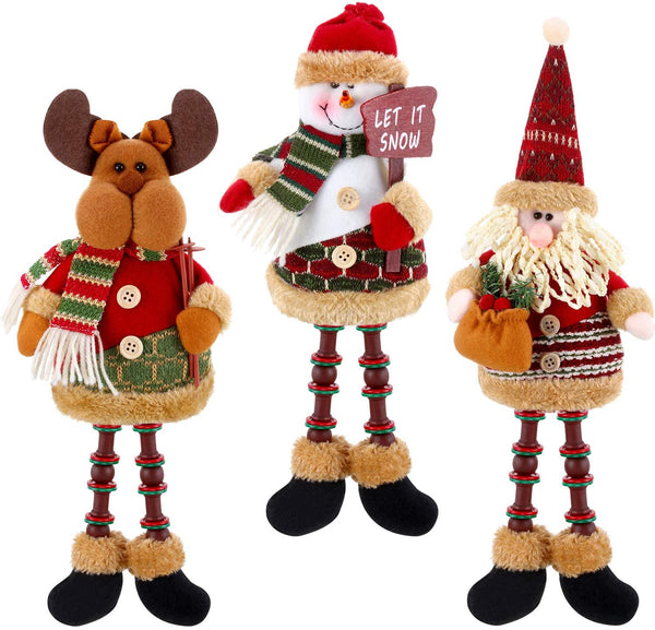 Santa Claus Snowman Reindeer Christmas Ornaments Home Door Decoration New Year Christmas Decorations Ornaments For Home Christma