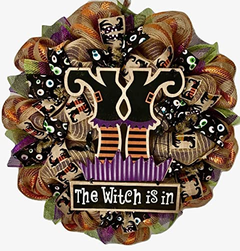 Halloween Wreath The Witch Is In 24