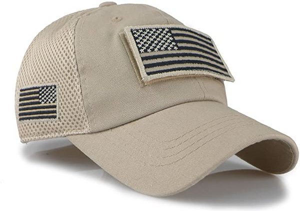 TACVASEN Tactical Camouflage Baseball Caps Men Summer Mesh Military Army Caps Constructed Trucker Cap Hats With USA Flag Patches