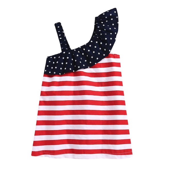 ARLONEET Summer Baby Dress Baby 4th Of July Star Dress Clothes Sundress Casual Dresses Kids 1 to 5 Years Drop Shipping 30S53
