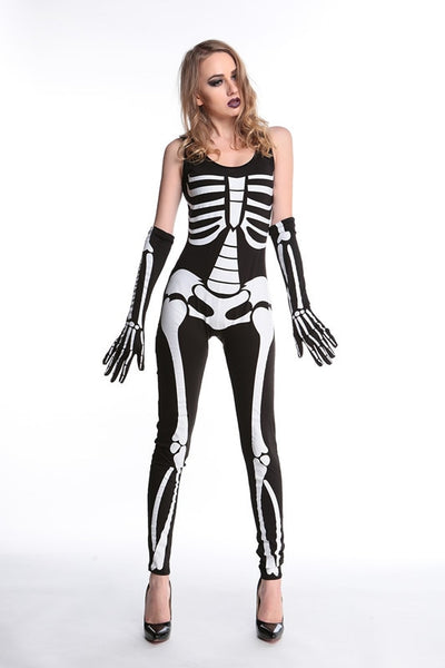 Couple Skull Dress Jumpsuit - Women