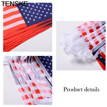 American Flag String America USA Bunting Banner 2 Set and 20 Pcs Per Set Polyester Wedding party Home 4th of July Decor 25JUNE.3