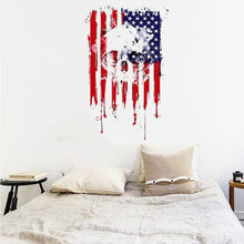 American creative personality independence day July 4th vinyl DIY wall sticker detachable PVC artist living decoration #LC
