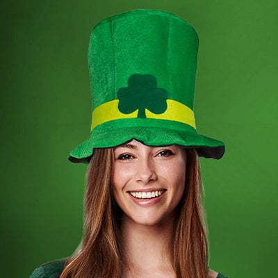 Behogar Saint St Patricks Day Lucky Charm Green Hat Costume Accessories for Irish Fun Party Celebration