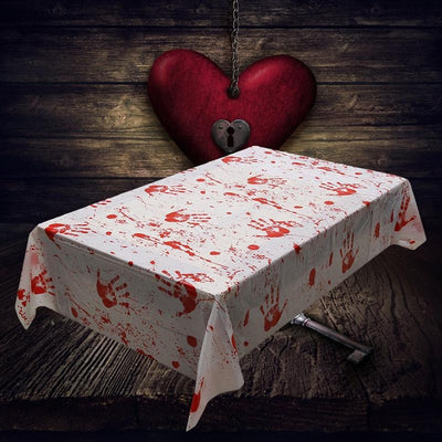 Blood Fingerprint Decoration Bloodstain Tablecloth Horror Halloween Decoration Hot Sale High Quality 2018 New Patterns Modern