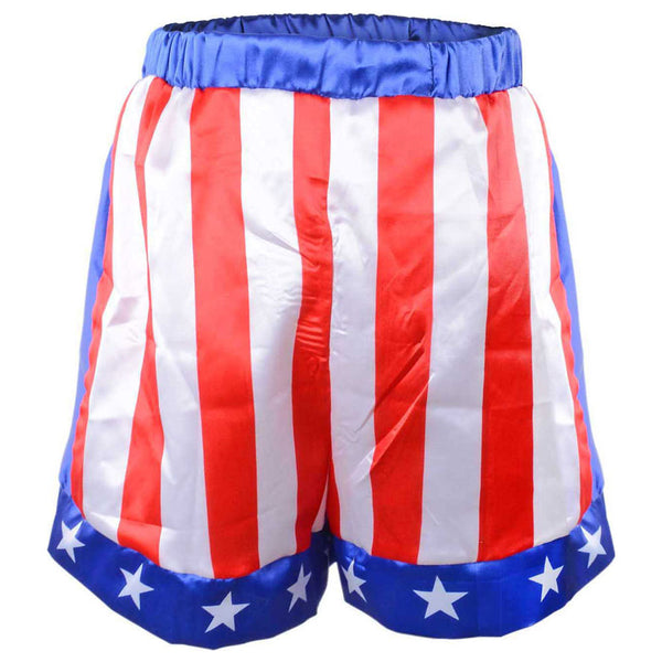Boy Boxing Costume Kids Rocky Balboa Robe Movie Apollo Cosplay American Flag Pattern Halloween Carnival Stripe Boxing Robe Kids