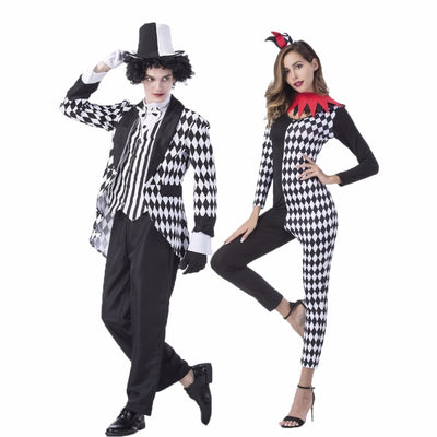 Couple Circus Clown Fancy Dress
