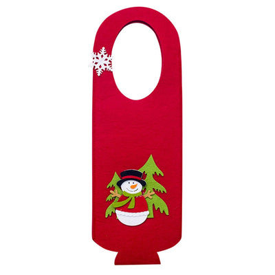Christmas Gift Bags And Boxes Christmas Red Wine Bottle Bag Cartoon Xmas Decoration Wine Gift Felt Bag Kerst Decoratie Kerst