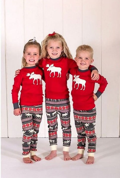 Family Christmas Pajamas Set Dropship Matching Family Outfits Warm Adult Kids Girls Boy Mommy Sleepwear Mother Daughter Clothes