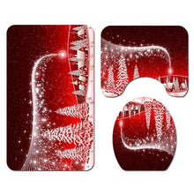 Christmas Santa Claus Bathroom Shower Curtain Doormat Merry Christmas Decorations for Home 2019 Xmas Ornaments Navidad New Year