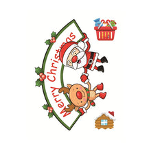 Christmas Window Sticker Santa Claus/Snowman/Elk Glass Sticker Xmas Christmas Decorations for Home Natal New Year Gift 2018 Noel