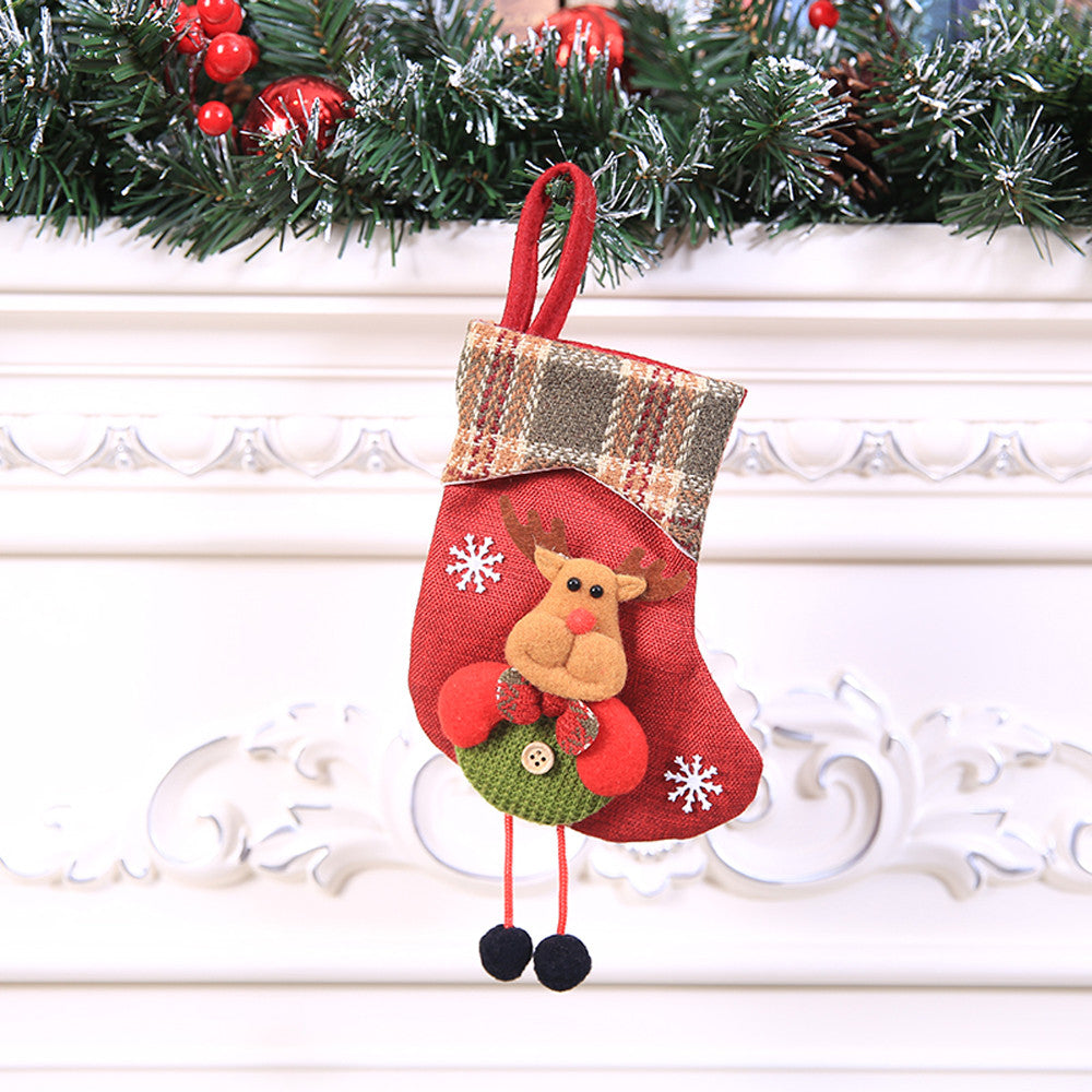 Christmas Gift Christmas Stocking Mini Sock Santa Claus Candy Gift Bag Onlineamericanstore