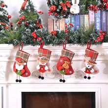 Christmas gift Christmas Stocking Mini Sock Santa Claus Candy Gift Bag Xmas Tree Hanging Decor christmas stockings navidad