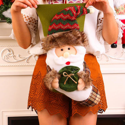 Cloth Christmas Snowman Gift Bag Plush Christmas Tree Hanging Gift Candy Socks Bag Santa Claus Decoration Enfeites De Natal@GH