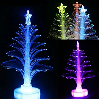 Colorful LED Fiber Optic Nightlight Decoration Light Lamp Mini Christmas Tree