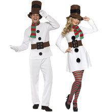 Couple Snowman Costumes Party Funny Dresses