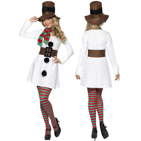 Snowman Costumes Party Funny Dresses - Women