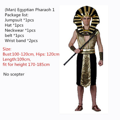 Egyptian Pharaoh Cleopatra Cosplay Party Dress - Men