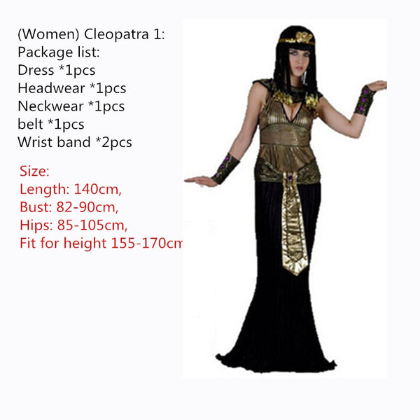 Egyptian Pharaoh Cleopatra Cosplay Party Dress - Women