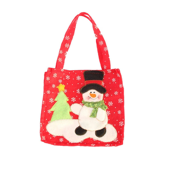 Creative Christmas Tree Snowman Santa Claus Candy Bag Handbag Home Party Decoration Gift Bag Christmas Supplies