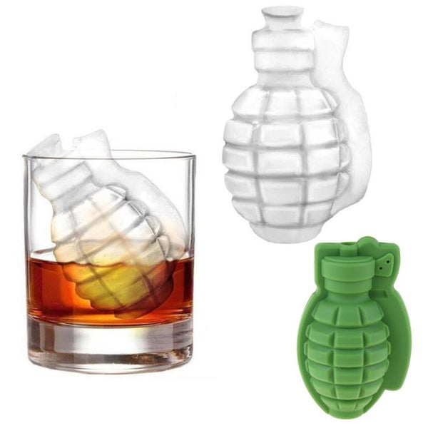 Creative Gun Bullet Skull Shape Ice Cube Maker DIY Ice Cube Tray Chocolate Mold Home Bar Party Cool Whiskey Wine Ice Cream Tool