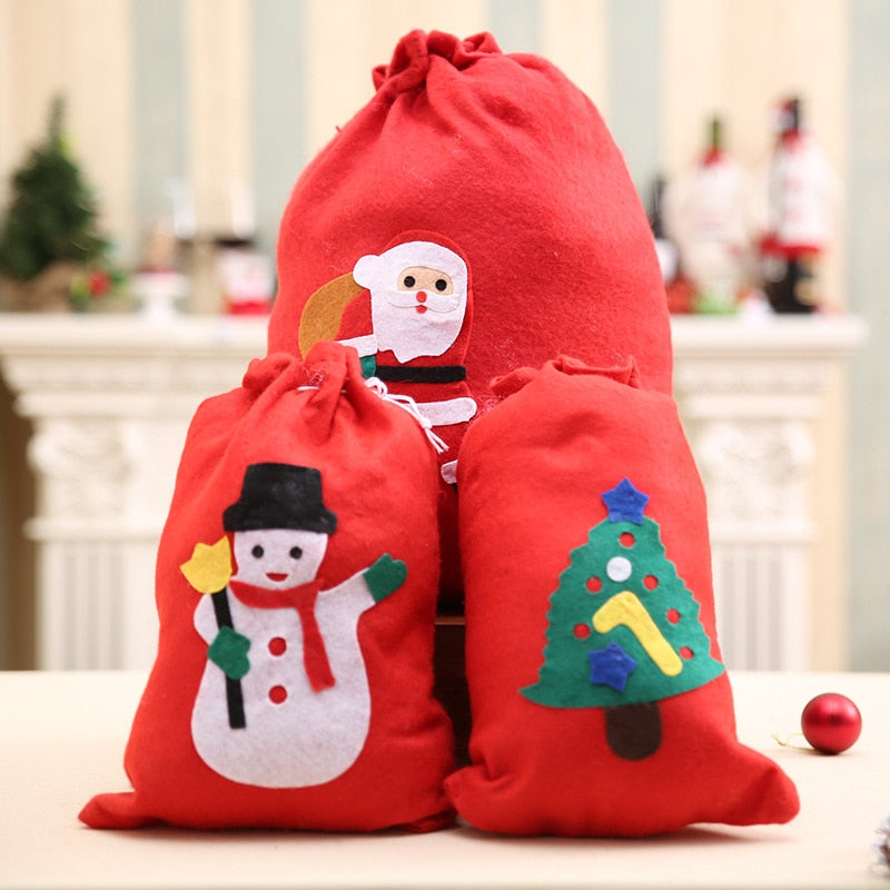 Christmas Gift Bags For Kids.Cute Christmas Gift Bags Santa Claus Snowman Big Backpack Kids Banquet Xmas Gifts Holders Bag Home Party Christmas Decorations