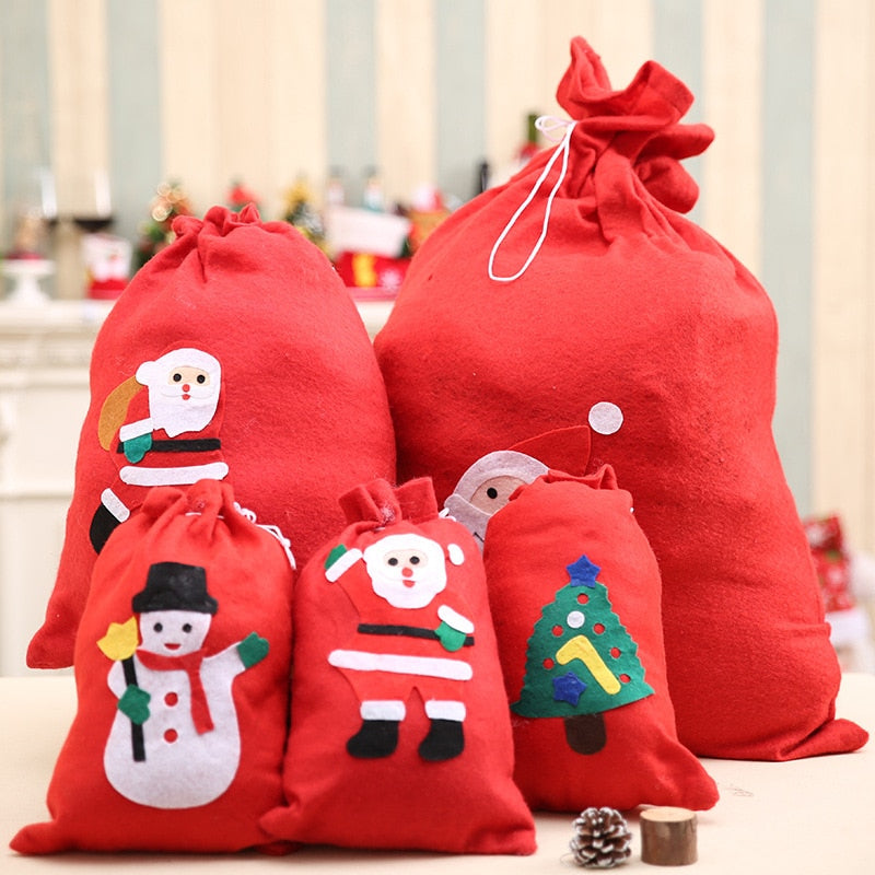 Cute Christmas Gift Bags Santa Claus Snowman Big Backpack Kids Banquet Xmas  Gifts Holders Bag Home ... 9aa9cd6d4c64