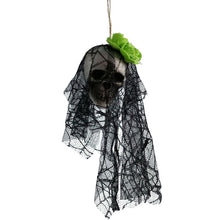 DIY Artificial Foam Skull Bride Clothes Halloween Decor Bone Head Hanging Home Decorations Festival Party Supplies