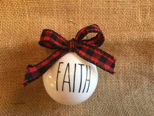 Christmas Decoration Rae Dunn Ornament | Christmas Holiday Decor Ornament | Farmhouse Christmas Tree Decor
