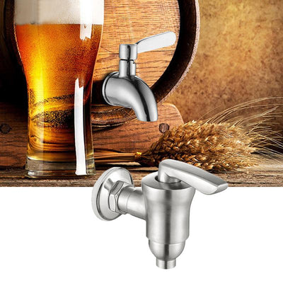 Drink Dispenser Beverage Wine Barrel Tap Spigot Water Stainless Steel Water Dispenser Replacement Faucet With Ceramic Core