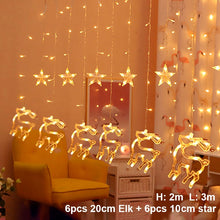 Elk Bell String Light LED Christmas Decor For Home Hanging Garland Christmas Tree Decor Ornament 2019 Navidad Xmas Gift New Year