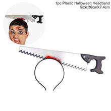 FENGRISE Halloween Decor Horror Knife Bloody Machete Halloween Party Supplies Haloween Headband Props for 2018 Festival Decor
