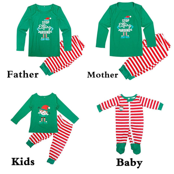 c72d012799 Family Matching Christmas Pajamas Set Xmas Adult Men Women Baby Kids Sleepwear  Nightwear 2017 New Hot