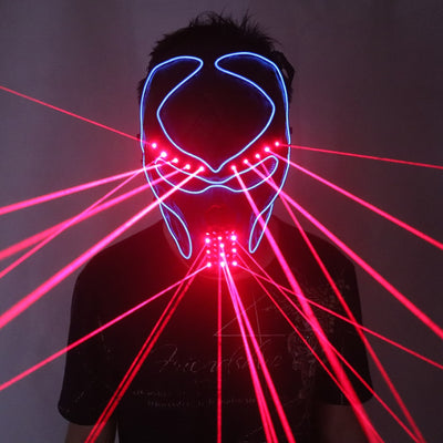 Halloween Luminous Light Up Fashion Red Laser Mask