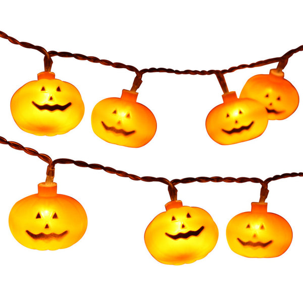 Halloween Party Ghost festival Pumpkin LED Battery Lantern string Party Holiday DIY Wedding Garland Decorations