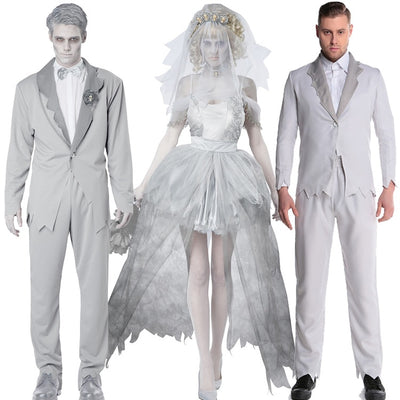 Halloween cosplay Vampire couple uniform Dead Beauty Ghost Bride Costume Corpse Bridal Costumes Ghost Dress