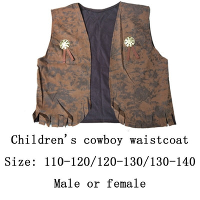 Halloween costumes adult children men and women western cowboy parent-child suit COS western cowboy costume