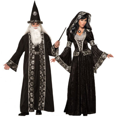 Black Wizard Witch Ghost Costume For Couple