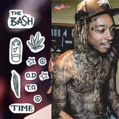 Halloween Costume Wiz Khalifa Temporary Face Tattoos